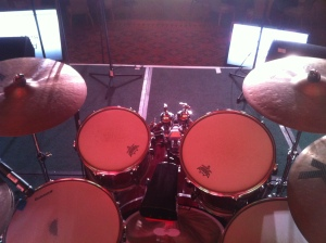 Yamaha Drums on Stage - from seat
