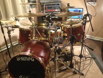 Drum Studio - lighted view - 2
